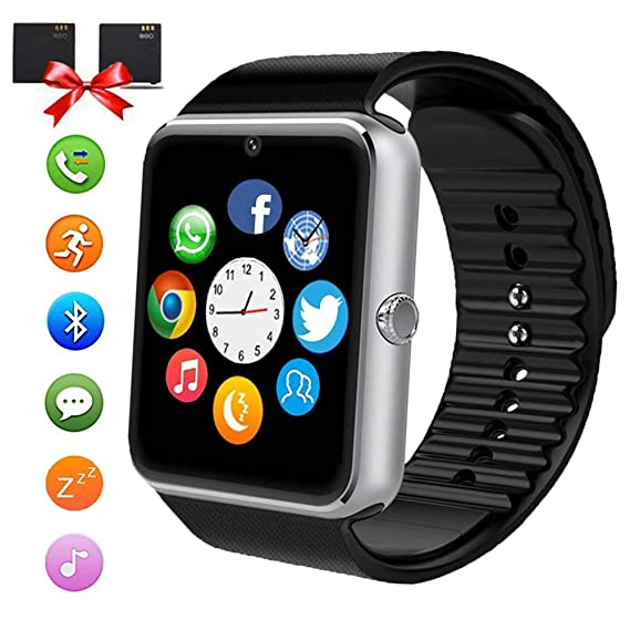 241184d9d9a7 Bluetooth Smart Watch - ANCwear Smartwatch for Android Phones with SIM Card  Slot Camera