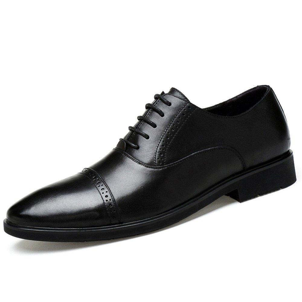 Xujw-schuhe, 2018 Schuhe Herren Herren Business Oxford Schuhe, Casual Echtem Leder Britischen Stil Spitze Formale Schuhe (Farbe : Schwarz, Größe : 45 EU) Schwarz