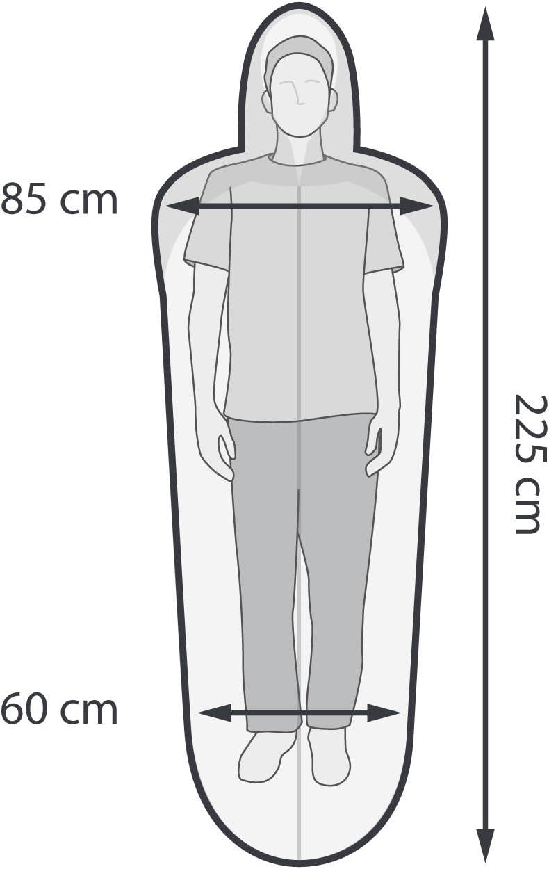 Schlafsack Bein- und Armfreiheit Mumienschlafsack Kleines Packma/ß Qeedo H/üttenschlafsack Lenny Leicht