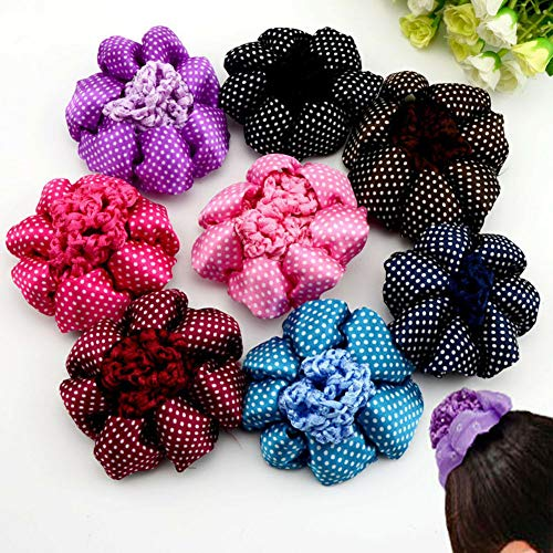 - Women Elastic Hair Rope Ring Tie Scrunchie Ponytail Holder Flamingos Hair Band (ColorID -  09)
