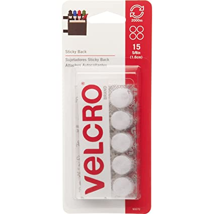 Velcro brand 90070 sticky back 5 8 coins 15 sets