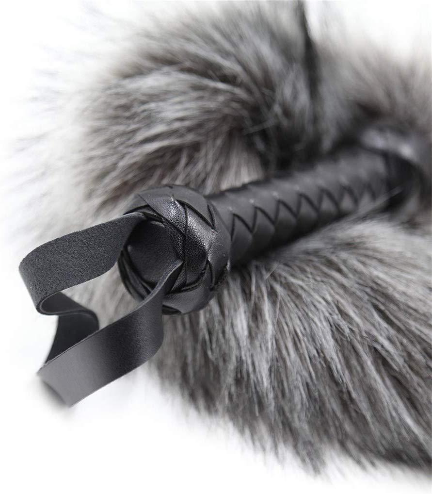 Bedding Soft and Comfortable Artificial Fur Whǐp Spǎńkińg Flōggêrs Paddles B+D+S-M Bo`ndà-gé Role Play Toys (Gray) by QF sexy leather store