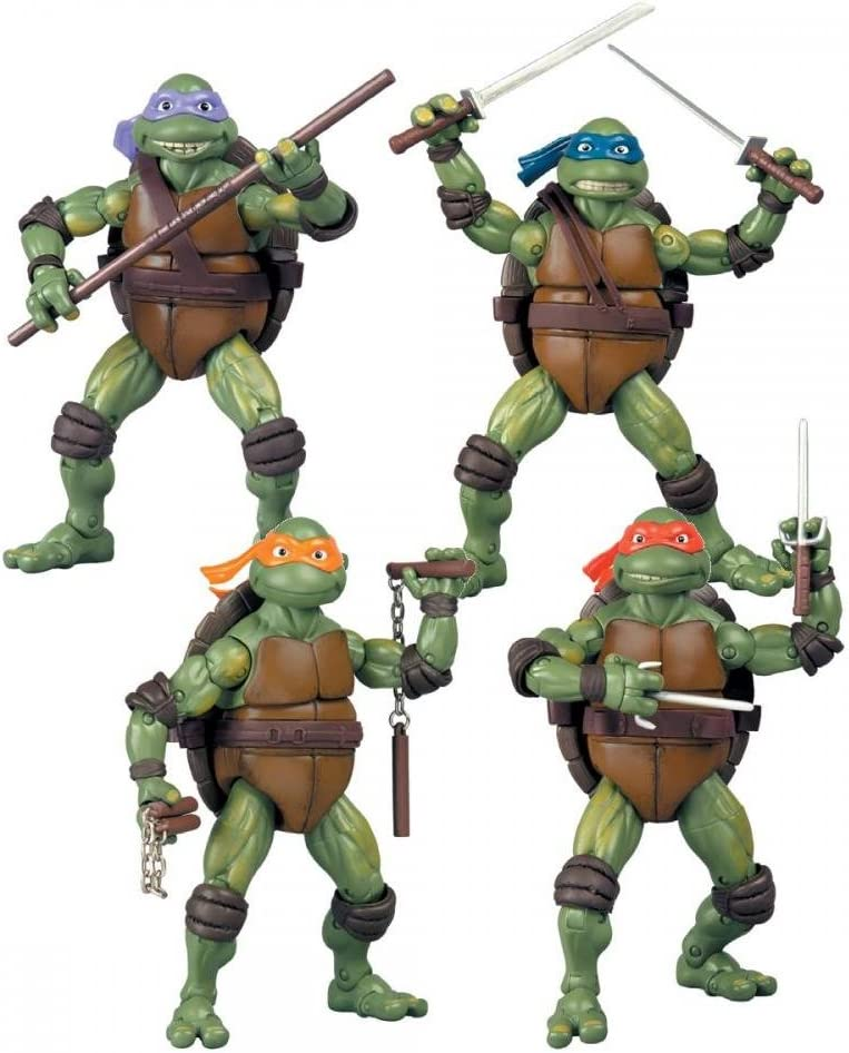 Teenage Mutant Ninja Turtles Set of 4 Exclusive Classics Movie Action Figures [Donatello, Raphael, Michelangelo & Leonardo]