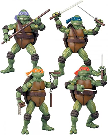 Teenage Mutant Ninja Turtles Set of 4 Exclusive Classics Movie Action Figures [Donatello, Raphael, Michelangelo & Leonardo]