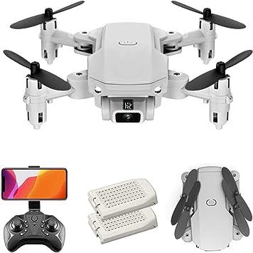 Opinión sobre GoolRC LS-MIN Mini Drone con cámara 4K RC Quadcopter 13mins Tiempo de Vuelo 360 ° Flip Gesto Foto Video Pista Vuelo Altitud Control de Retención Remoto sin Cabeza para Niños Adultos (Gris, 2 Batería)