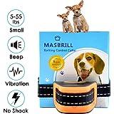 MASBRILL Collar antiladridos para Perros pequeños y medianos - Sonido vibración Perro Barking Collar de Entrenamiento de Control Hebilla Dispositivos Anti ladrido Deje de Perro ladrando (S, Naranja)