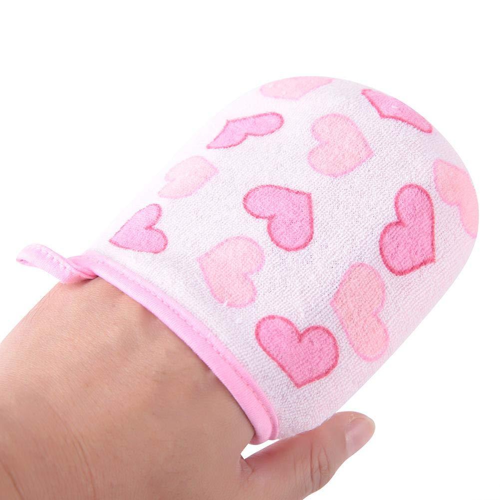 Cartoon Dusche Handschuhe Weiche Baby Bad Dusche Schwamm Kinder Badeb/ürste Baumwolle W/äscher f/ür Neugeborene Kleinkind Blauer Fu/ßabdruck