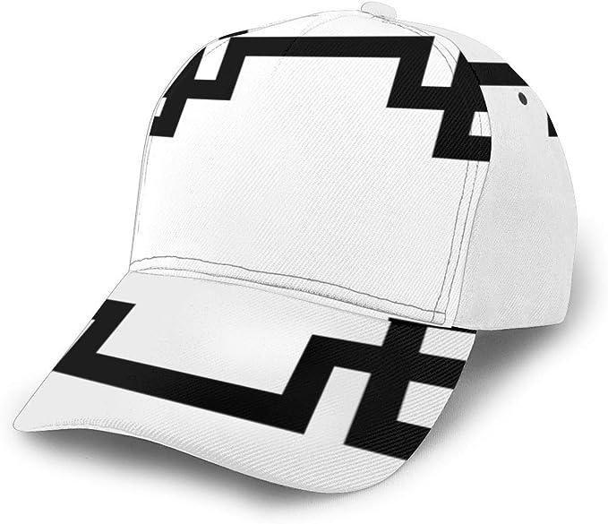 Gorra de béisbol Ajustable con Borde de Llave Griega, Color Blanco ...