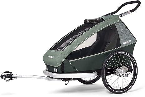 Croozer Kid Vaaya 1 Jungle Green 2020 - Remolque de Bicicleta para niños: Amazon.es: Deportes y aire libre