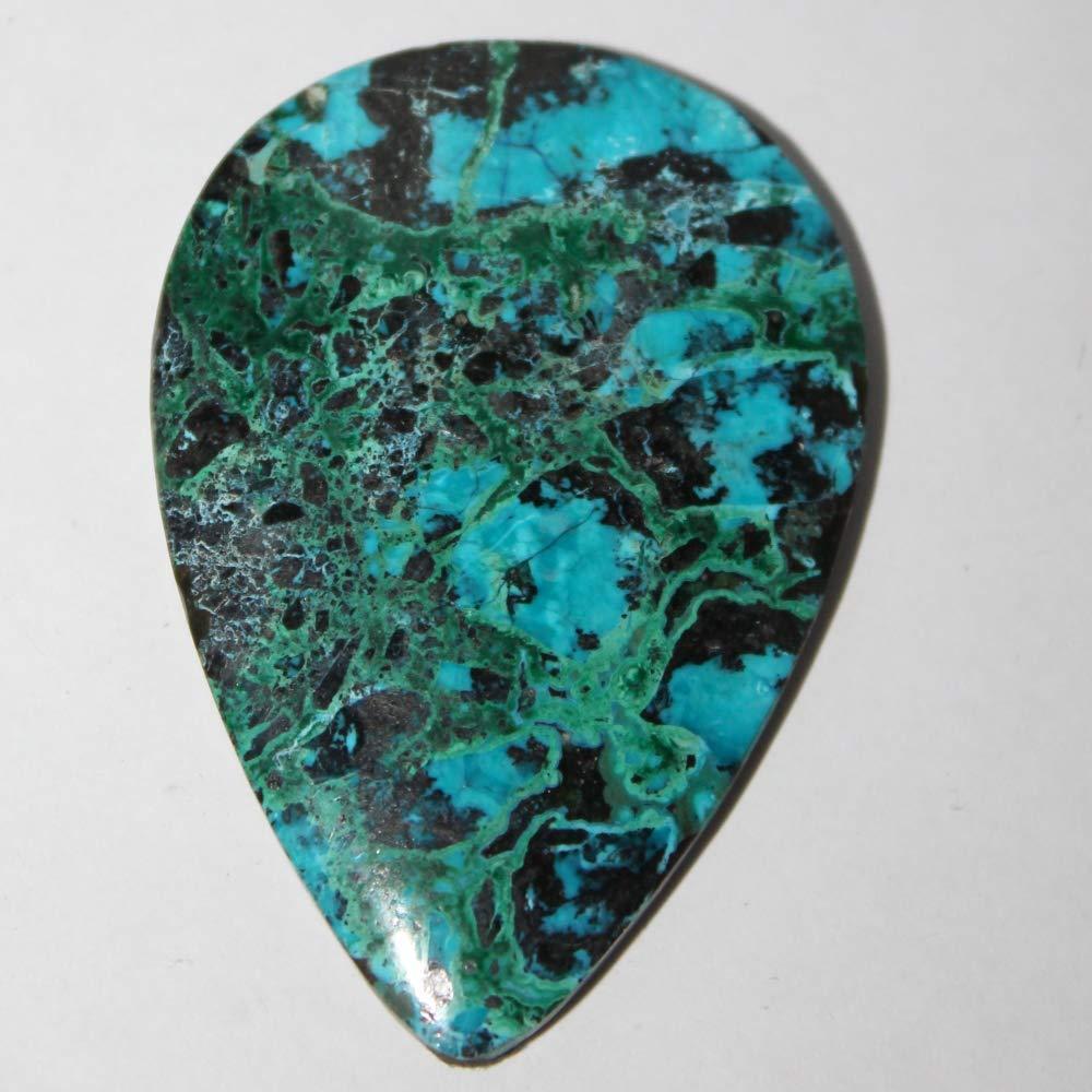 43x7 MM Natural Chrysocolla Malachite Cabochon Gemstone Round Shape Chrysocolla Malachite Jewelry Cabochon Natural Chrysocolla Malachite