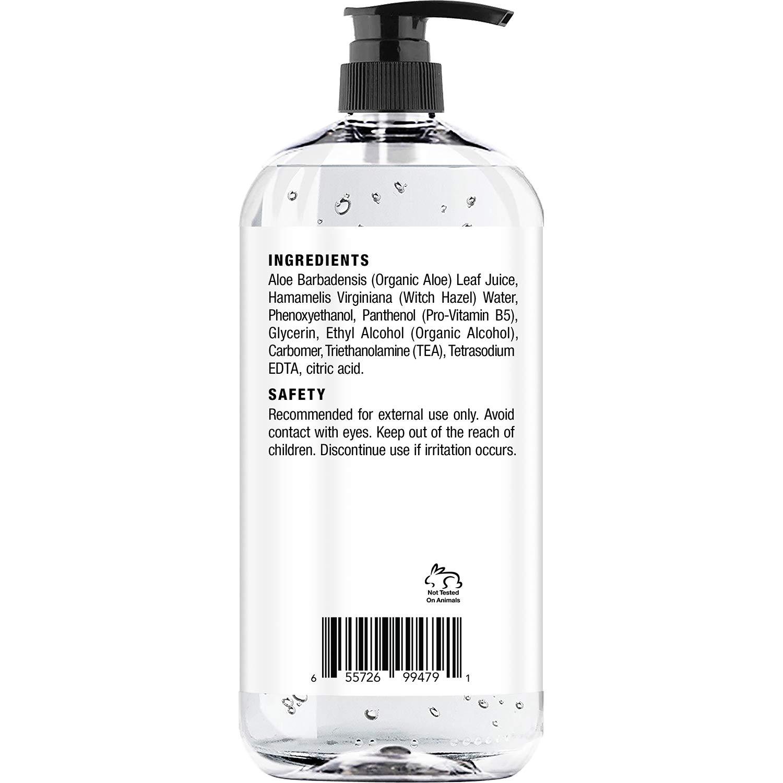Hair Gel for Men & Woman - Styling with Organic Aloe Vera & Witch Hazel - 16 fl oz : Beauty