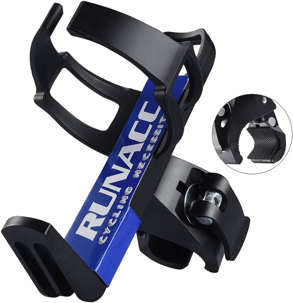 RUNACC Portabidón de Bicicleta Ajustable Portabidón para Bicicleta Botella Jaula Estante Cochecito para MTB (Azul 2)