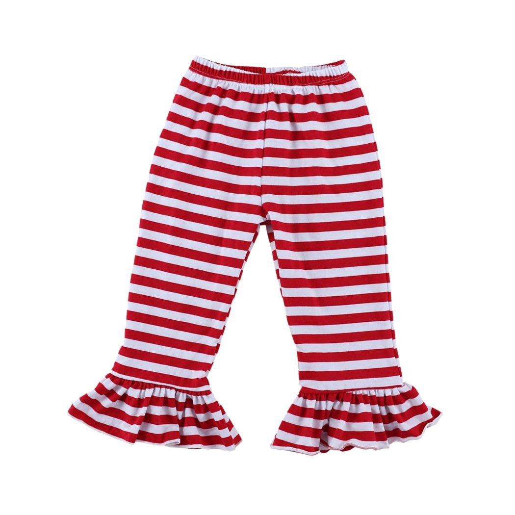 Wennikids Children's Little Girls Ruffle Soft Cotton Flare Pants LC-RS-506