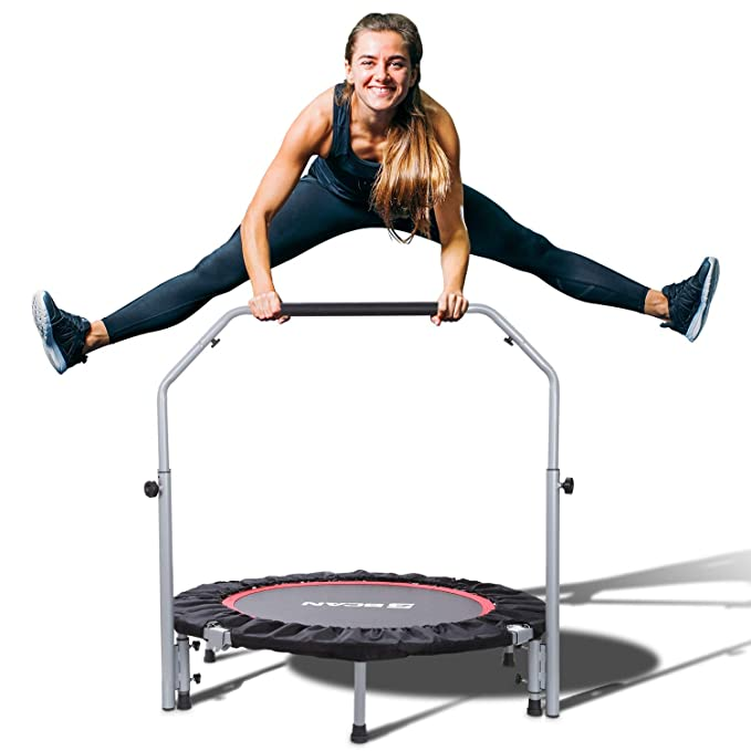 "BCAN 40"" Foldable Mini Trampoline-The Best Mini Trampoline for both Kids and Adults"