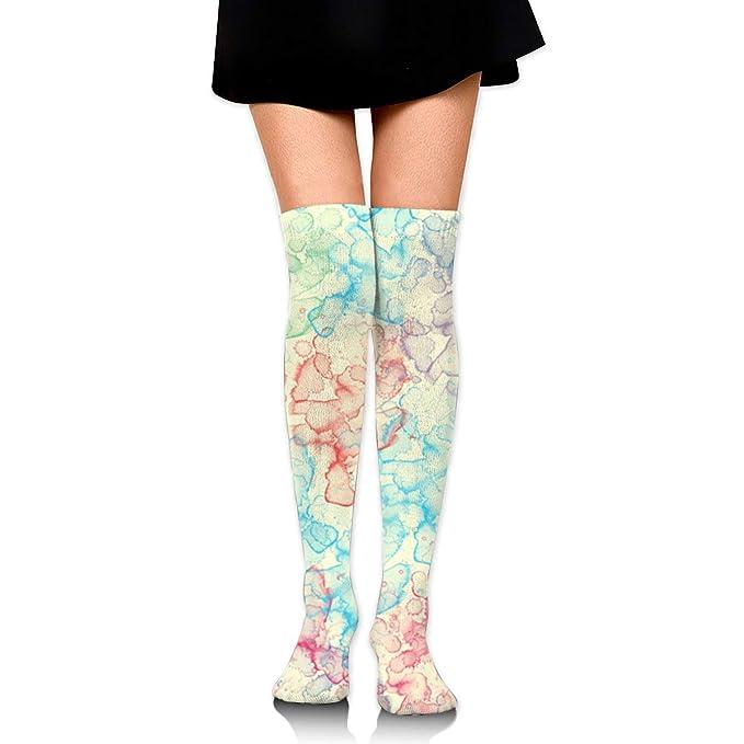 734ef8eeb3d60 Amazon.com: Color Splash Women's Over Knee Thigh Socks Girl High Boot  Stockings Leg Warmer: Clothing