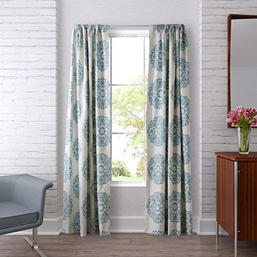 Stone Cottage Bristol Pole Top Drapes, 84x54, Blue