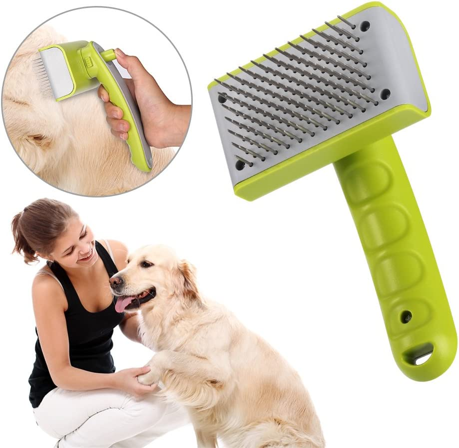 Homvik Cepillo para Perros Mascotas Autolimpiador de Pelo: Amazon ...