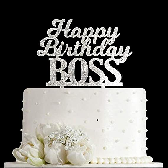 Prime Happy Birthday Boss Cake Topper Funny Office Coworker Boss Personalised Birthday Cards Cominlily Jamesorg