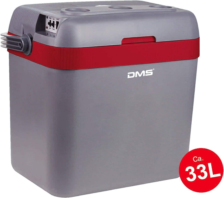 Dms Thermoelektrische Kühltasche 33 L Gefriertasche Getränkebox Kühl Und Warmhaltefunktion Auto Und Lkw Camping 12 24 V Grau Rot Auto