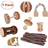 JanYoo Rat Chinchilla Toys Guinea Pig Accessories Bunny Chew Toys for Rabbits Hamster Gerbil