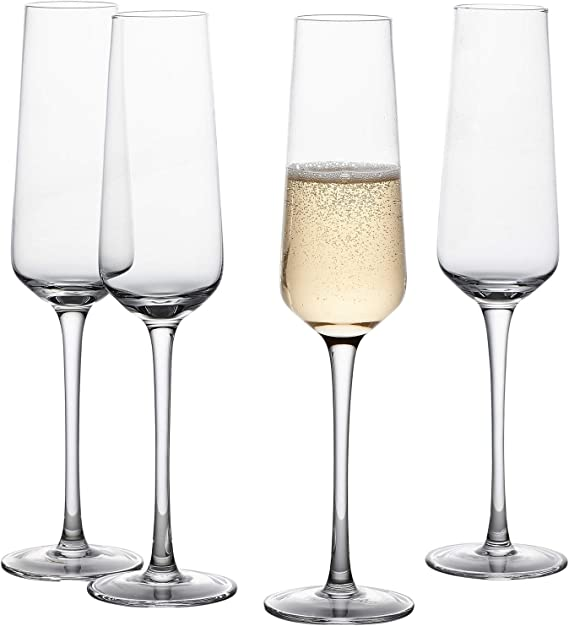 GoodGlassware Champagne Flutes (Set Of 4) 8.5 oz – Tall