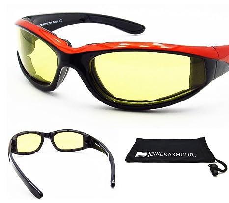 Amazon.com: Motocicleta anteojos de sol con lentes ...