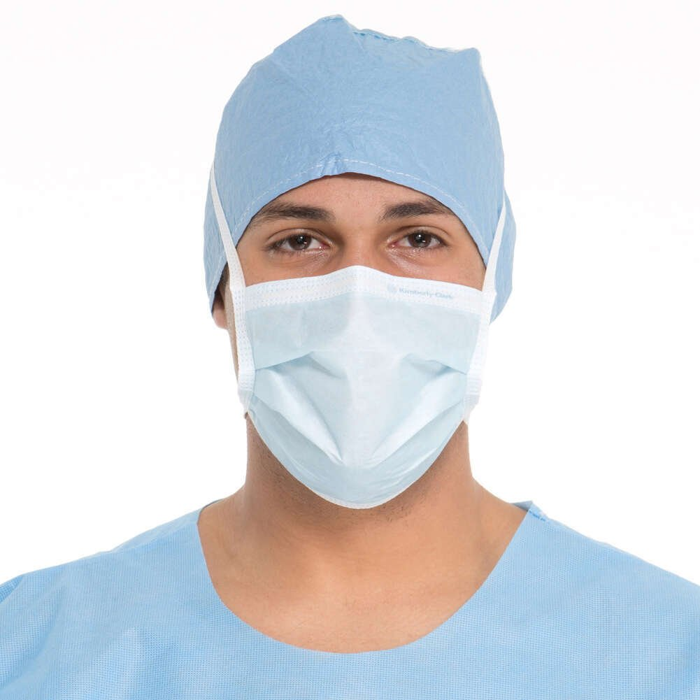 HALYARD Surgical Masks, Protective, Blue 48201 (Box of 50)