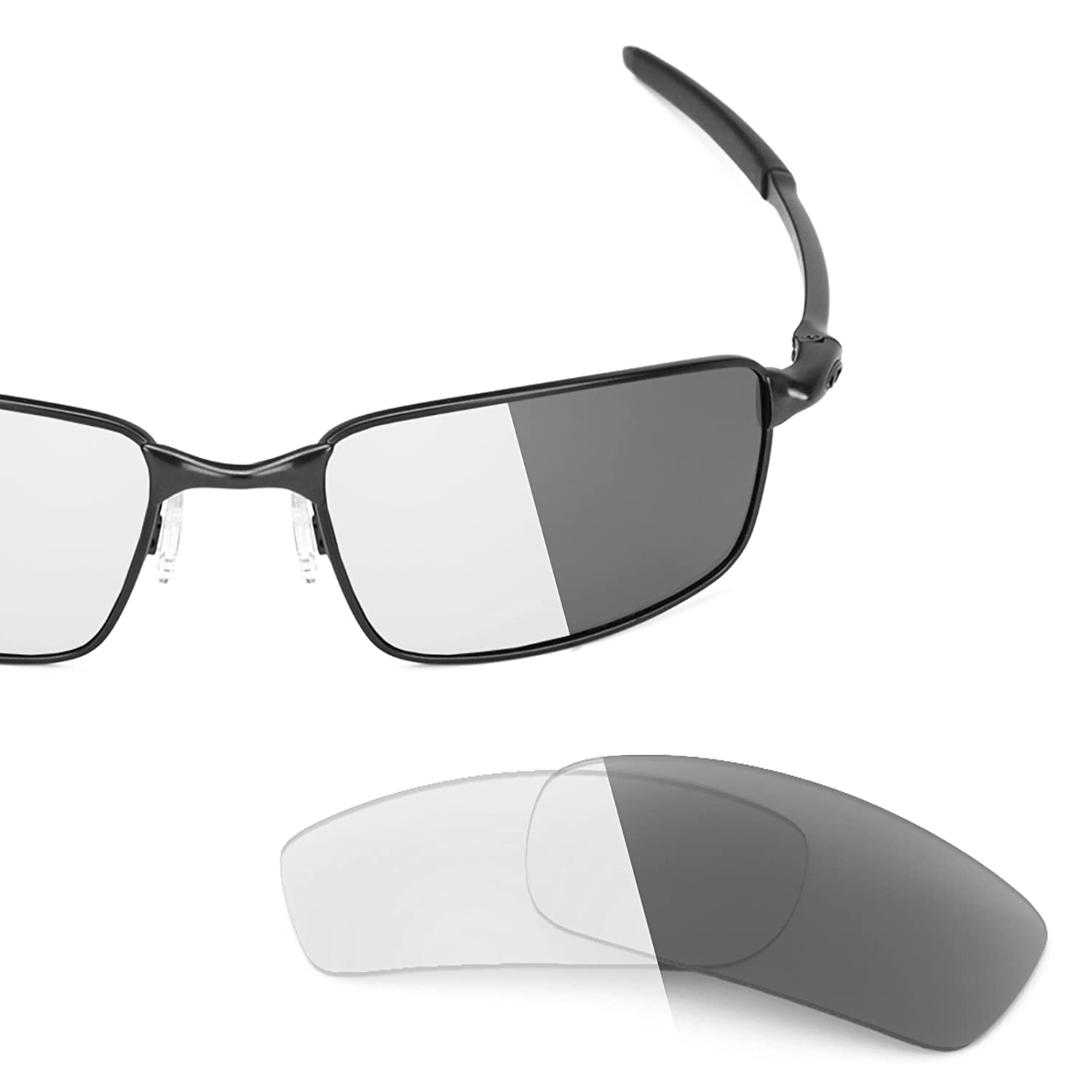 5463de6ed5 Revant Replacement Lenses for Oakley Square Wire New (2006) Elite Adapt  Grey Photochromic  Amazon.co.uk  Clothing