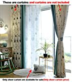 Aside Bside Voile Panels Home Treatment Rod Pockets Dandelion Printed Knitting Pure Style Sheer Curtains For Sitting Room Kitchen and Child Room (1 Panel, W 52 x L 63 inch, White)