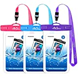 [3 Pack] Waterproof Cell Phone Bag, Moko Universal Waterproof Cellphone Case Pouch Dry