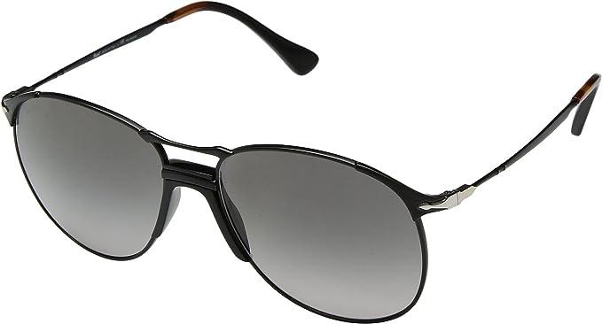 Persol 0PO2649S Gafas de sol, Aviador, Polarizadas, 54, Black