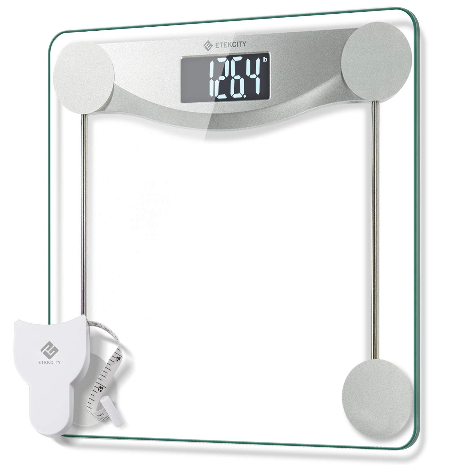 Etekcity Digital Body Weight Bathroom Scale with Step-On Technology, 440 Pounds, Body Tape Measure Included by Etekcity