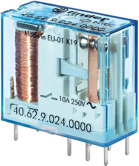 Rel/è Circuito Stampato 12 V//DC 10 A 2 commutatore 1 pz. Finder 40.62.9.012.4000