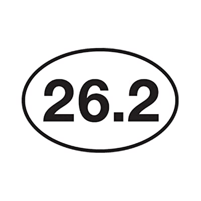 "26.2 Marathon Running Sticker Bumper Sticker Oval 5"" x 3\"" Decal Runner Track Run: Automotive [5Bkhe0814941]"