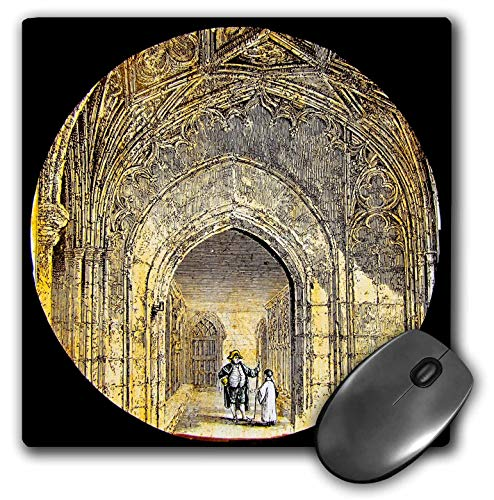 3dRose Scenes from The Past Magic Lantern - Vintage Windsor Castle The Cloister 1880 British Royalty England - Mousepad (mp_245949_1)