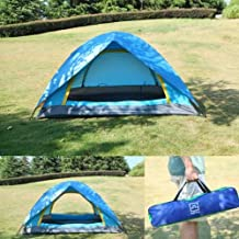 New Waterproof 2 Person Double layer Camping Hiking Family Pop Up Folding Tent