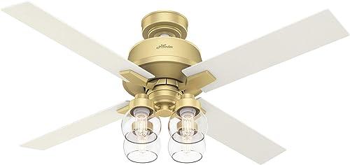 Hunter Fan Company 59651 Viven Ceiling Fan, 52, Modern Brass