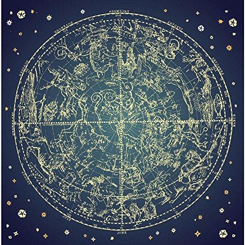 PB Zodiac Constellation Of Northen Stars Unframed Canvas Painting 18 x - Painting Constellation