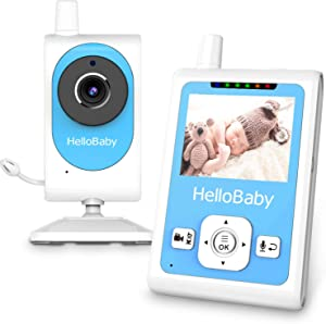 HelloBaby HB25 Baby Monitor with Video Recording Camera, Motion Detection Alarm, Night Vision, Two-Way Talk Audio, Temperature Monitoring and Long Transmission Range