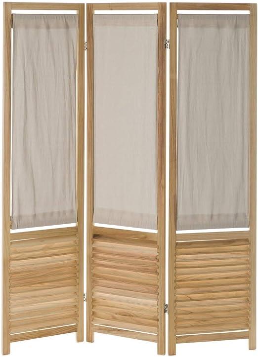 Biombo de Madera Plegable Beige nórdico Vitta para decoración - LOLAhome: Amazon.es: Hogar