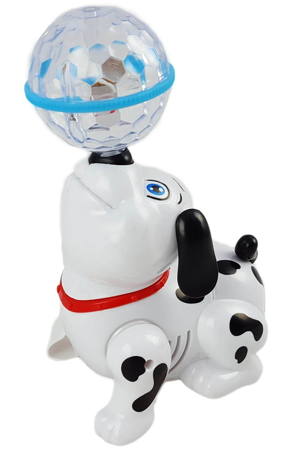 Dancing Dog Puppy Toy- Battery Operated With 3D Clear Ball Lights, and Sound by Toys N Go