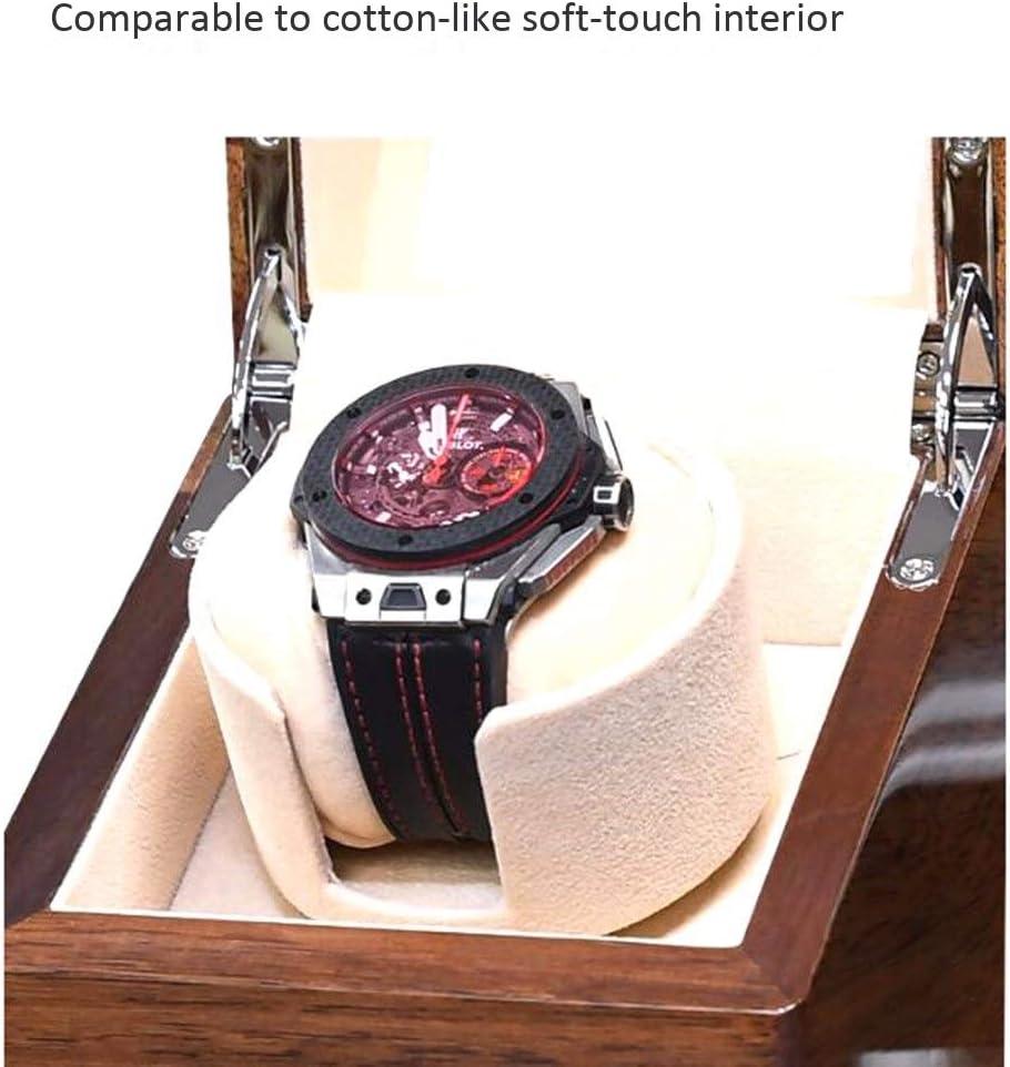 SMLCTY Carica Automatica Orologio Shaker, Watch Winder Box, Automatic Watch Winder Box, in Pelle Singolo Watch Winder, superba maestria, Struttura Eccellente (Color : A) A