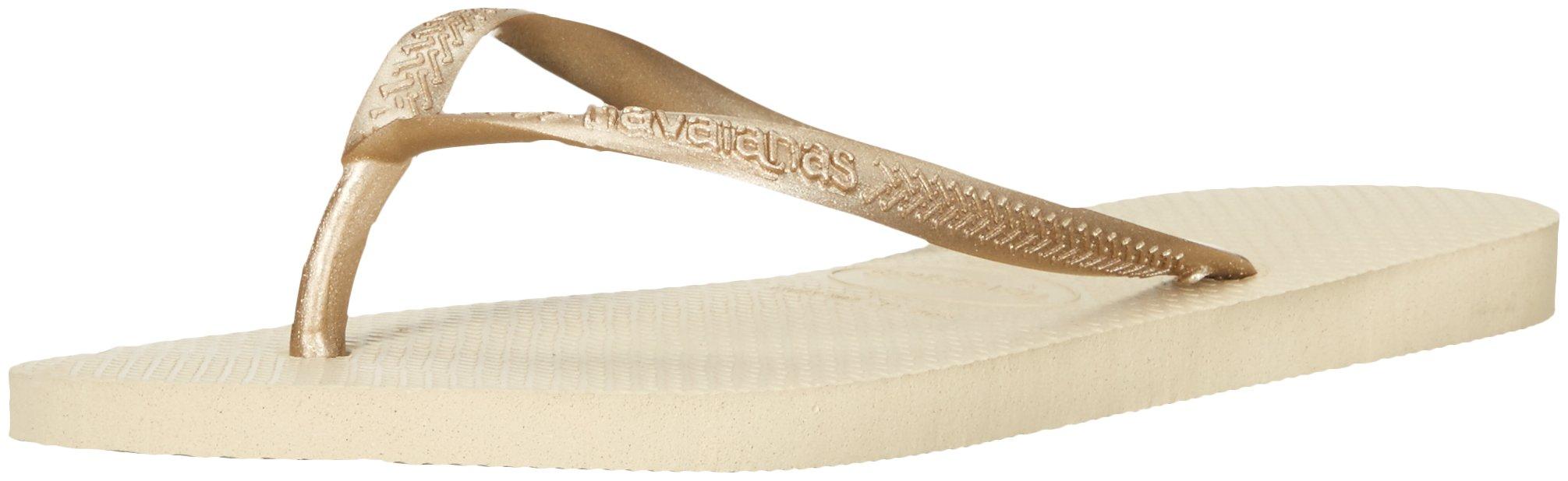 Havaianas Women's Slim Sandal,Sand Grey/Light Gold,39/40 BR (9-10 M US)