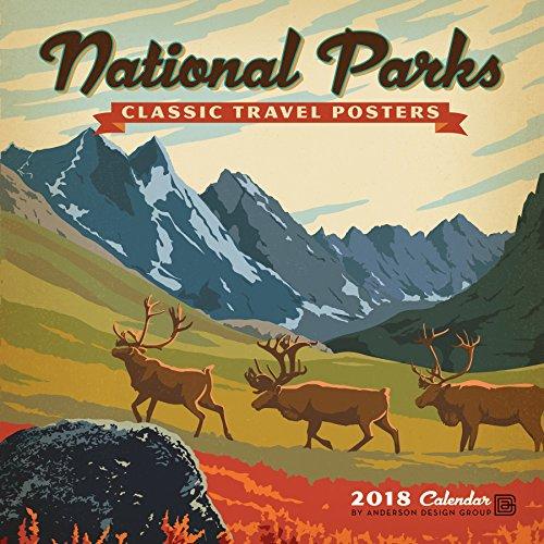 Charity Calendar - National Parks Classic Posters 2018 Wall Calendar