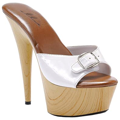 37225ff0b266ce Summitfashions 6 Inch Women s Casual Shoes Sexy High Heel Shoes With Spike  Heel And Buckle Size