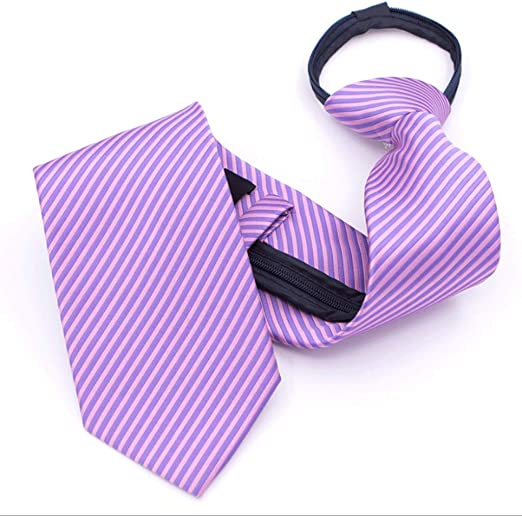 YXN Corbata/Diseño de Cremallera para Hombre de Color sólido/Traje ...