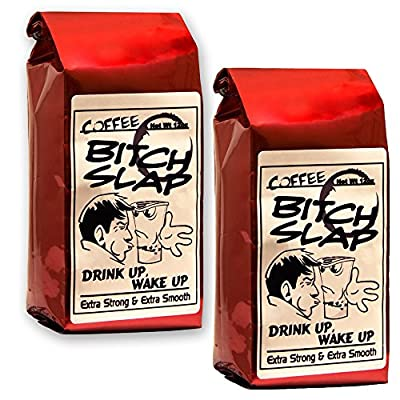 Coffee Bitch Slap - Extra Strong & Extra Smooth High Caffeine Coffee, Whole Bean - 2 Pack