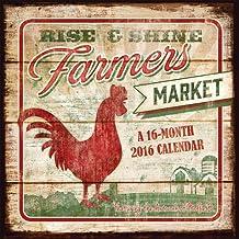 Farmer's Market 2016 Square 12x12 Wall Calendar