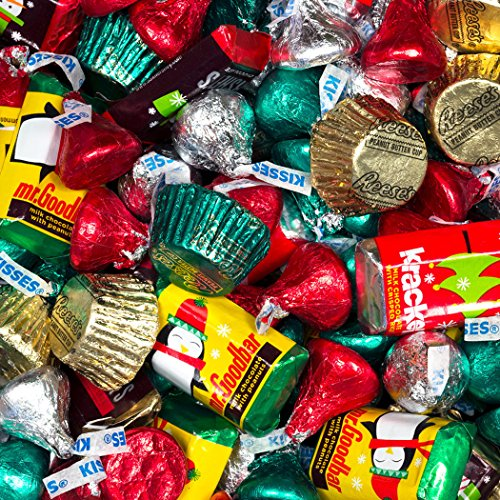 Christmas Candy Hershey's Holiday Mix (10lb) - Hershey's Miniatures, Kisses and Reese's Cups