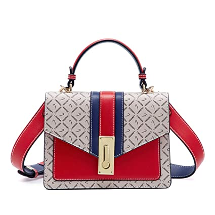 7b3bf267e15e Amazon.com: Kommschonff Women Fashion Messenger Colorful Handbag ...